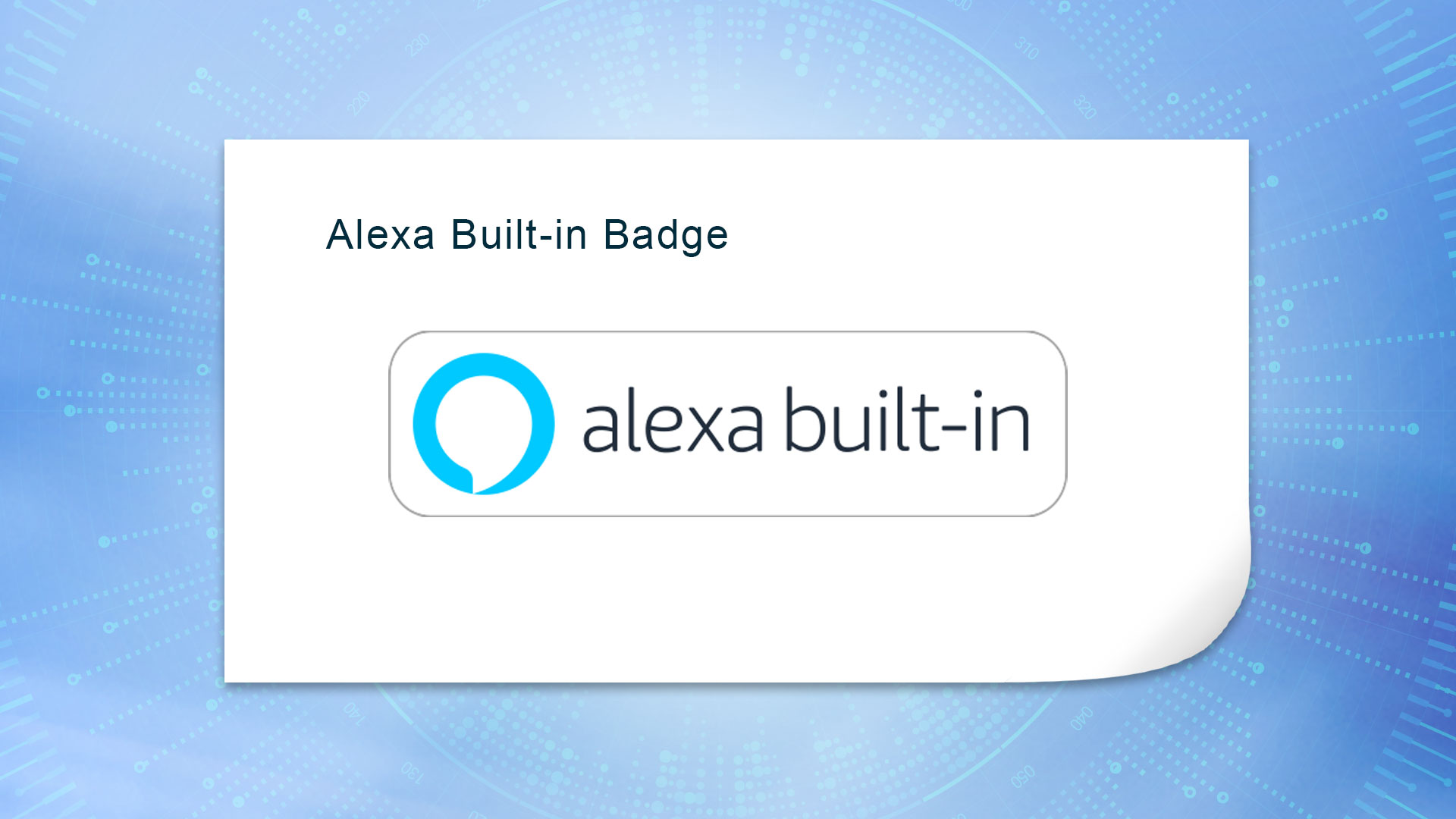alexa build-in badge