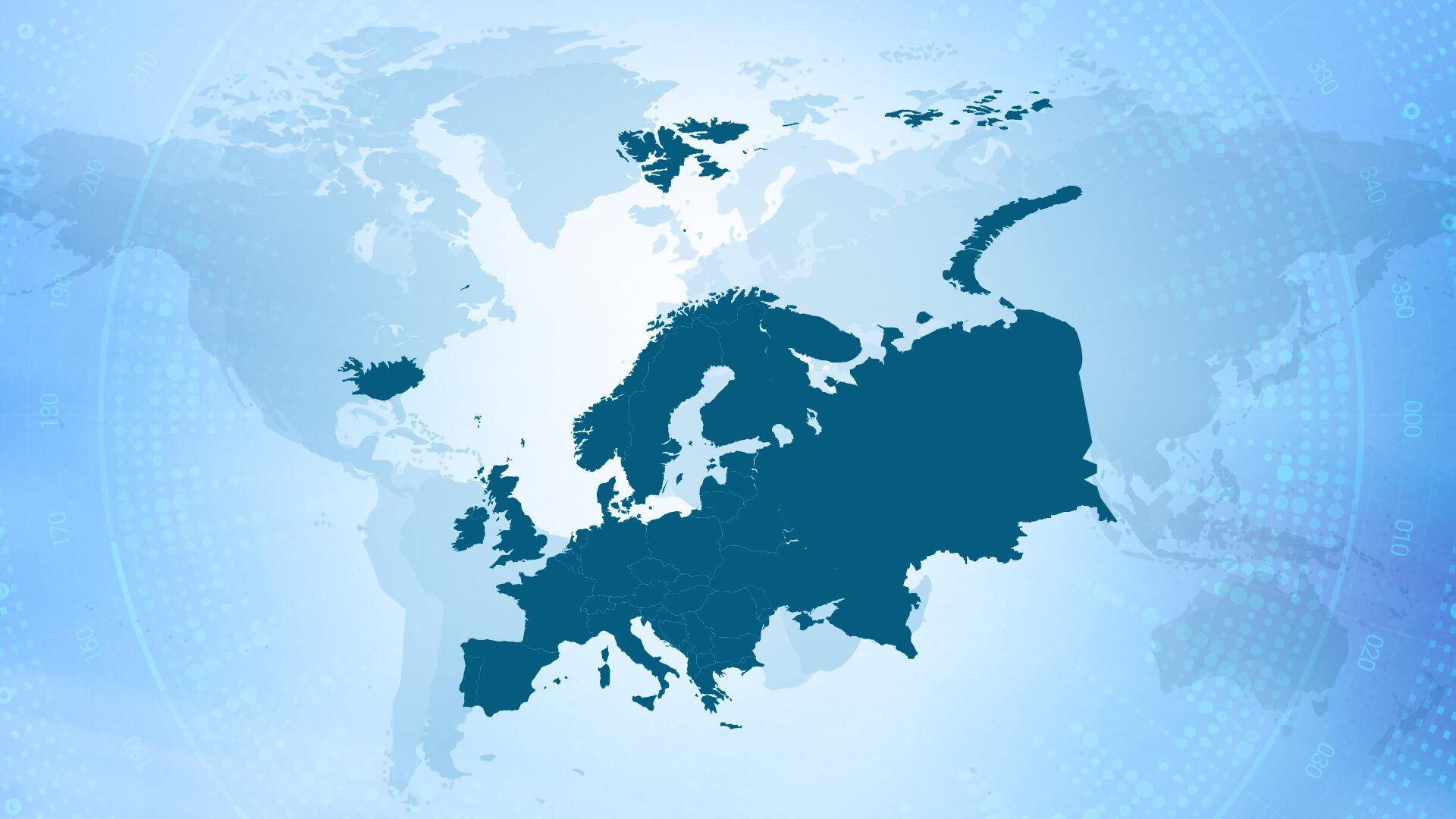 Map of Europe where marketing approvals have to be performed by a recognized FCB.