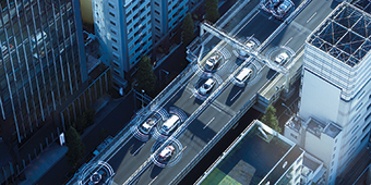 Vehicles with radar sensors for adaptive cruise control on urban roads
